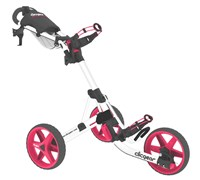 Clicgear 3.5+ 3-Wheel Trolley Cart 2013 (Arctic White/Pink)