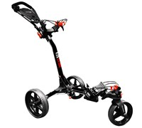Eze Glide Compact Tri-Spin 360 Degree Trolley (Black)
