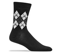 Ashworth Argyle Crew Golf Socks (Black)
