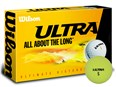 Wilson Ultra Ultimate Distance Yellow Golf Balls  15 Balls