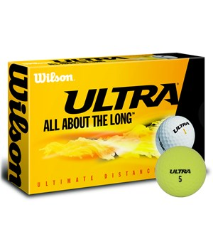 Wilson Ultra Ultimate Distance Yellow Golf Balls (15 Balls)