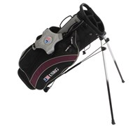 US Kids Stand Bag (Black/Silver/Purple)