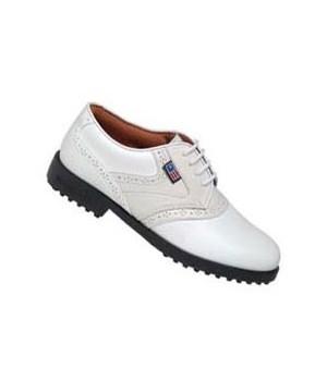 US Kids Girls Almond Saddle Golf Shoes
