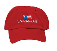 US Kids Golf Cap (Red)