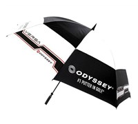 Odyssey Versa 68 Inch Double Canopy Golf Umbrella (Black/White)