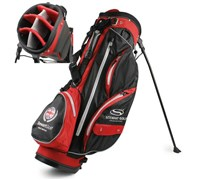 Stewart Golf W3 Waterproof Stand Bag (Black/Red)