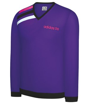 Adidas Mens FP 3 Striped V-Neck Sweater 2012