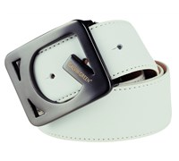 Galvin Green Web Leather Belt (White)