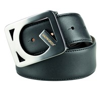 Galvin Green Web Leather Belt (Black)