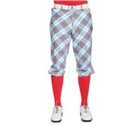 Royal and Awesome Well Plaid Tartan Golf Plus Twos (Blue/Red/White)