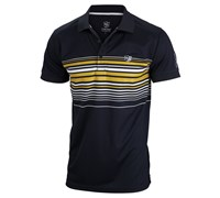 Wilson Staff Mens Performance Stripe Golf Polo Shirt 2014 (Black)
