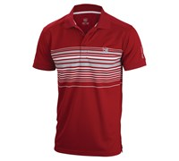 Wilson Staff Mens Performance Stripe Golf Polo Shirt 2014 (Red)