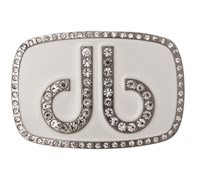 Druh Diamante White Belt Buckle (White)
