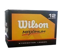 Wilson Maximum Distance Golf Balls  12 Balls