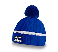 Mizuno Cable Knit Bobble Hat (Royal Blue)