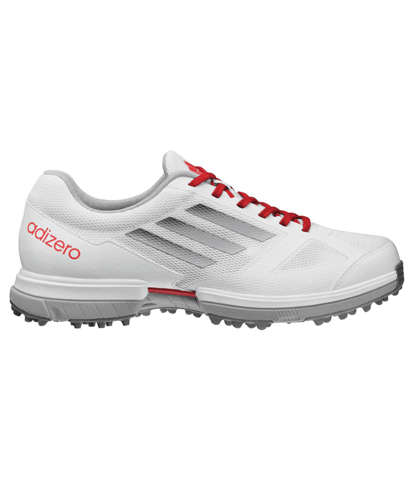 Adidas Ladies Adizero Sport Golf Shoes (White/Metallic Silver) 2013
