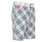 Royal and Awesome Well Plaid Golf Shorts (Blue)