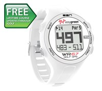 EasyGreen WR67 GPS Golf Watch (White)