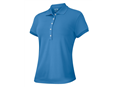 Adidas Ladies ClimaLite Textured Polo Shirt 2013 (Blue)
