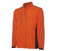 Adidas Mens Gore Tex 2 Layer Rain Jacket (Orange/Black)
