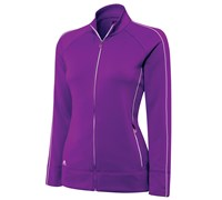 Adidas Ladies ClimaLite Contrast Piping Pullover 2014 (Purple/White)