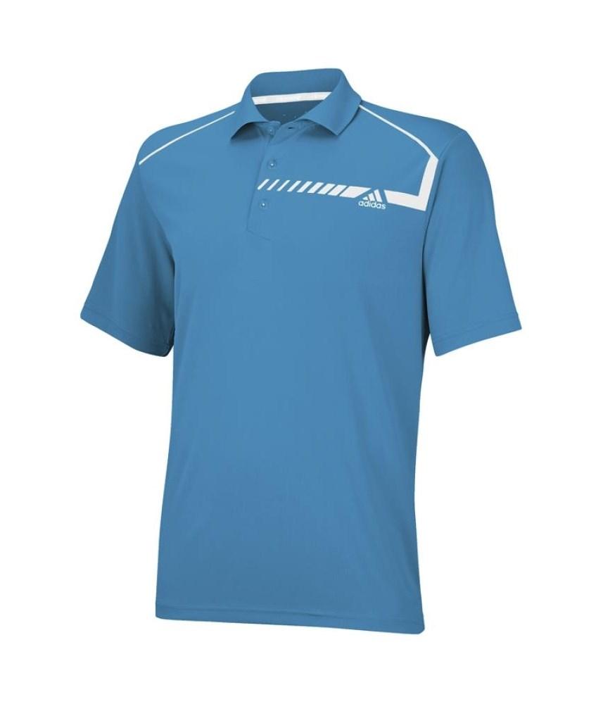 Adidas Mens Climachill Chest Print Golf Polo Shirt