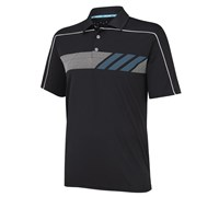 Adidas Mens ClimaChill Print Golf Polo Shirt 2014 (Black/White)