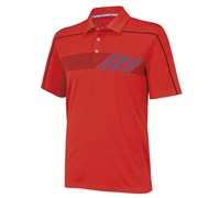 Adidas Mens ClimaChill Print Golf Polo Shirt 2014 (Electric Red)