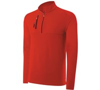 Adidas Mens Climalite Mixed Media 1/4 Zip Layering Top 2014 (Red)