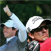 Adam Scott and Rory McIlroy Teeing Off Together