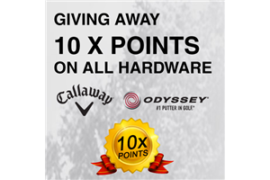 Bonus Points on all Callaway and Odyssey Golf Clubs