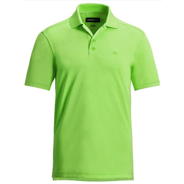 Loudmouth mens essential golf polo shirt golfonline for Mens lime green polo shirt