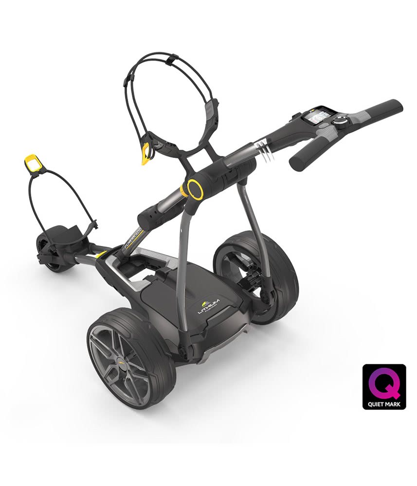 Powakaddy Compact C2i Electric Trolley With Lithium Battery 2018 Walker Mower Wiring Diagram For Charging Unit 1
