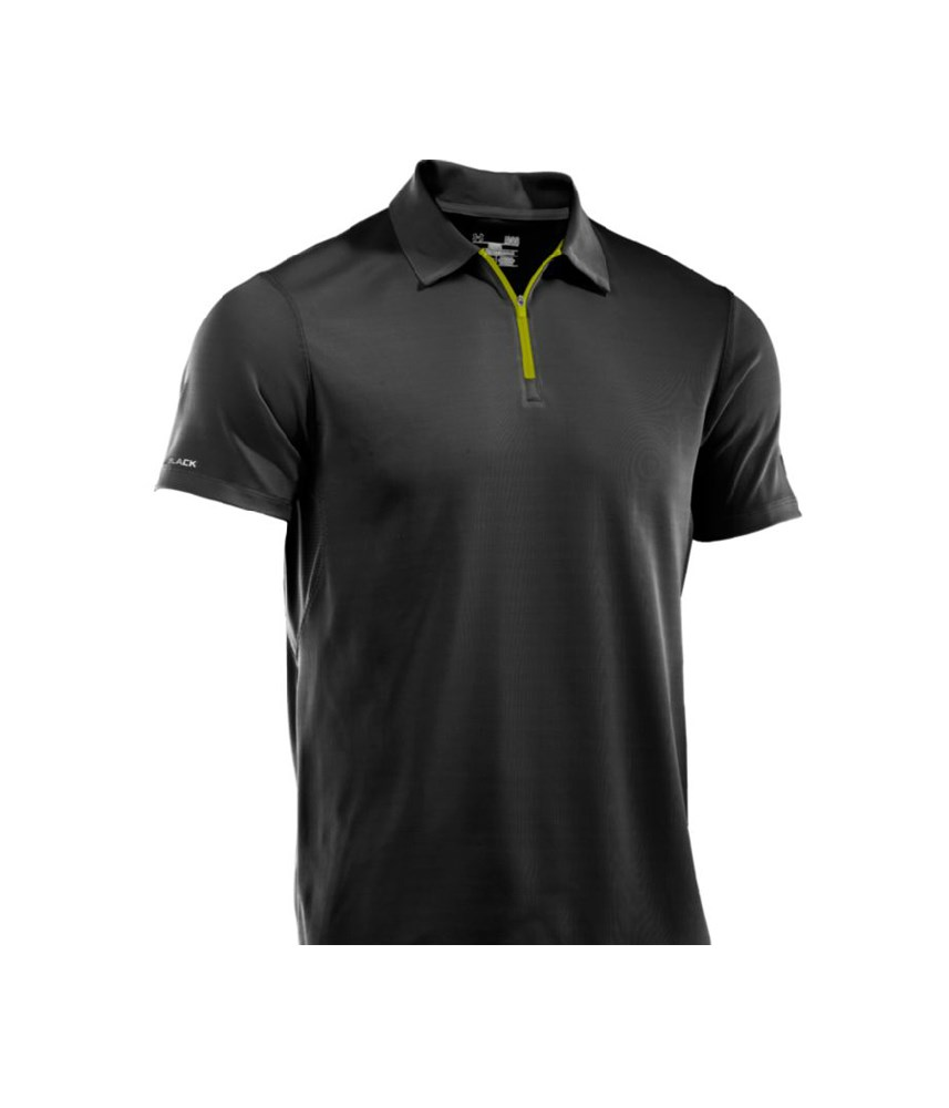 under armour mens cold black ultimate zip polo shirt 2013