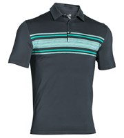 Under Armour Mens Playoff Heather Stripe Polo Shirt