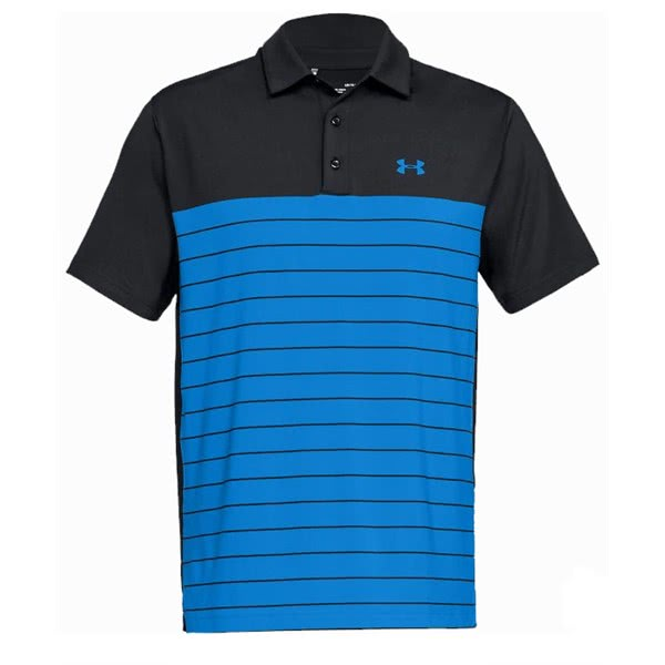 38e91b4a Under Armour Mens Playoff Colour Block Striped Polo Shirt. Double tap to  zoom. 1; 2