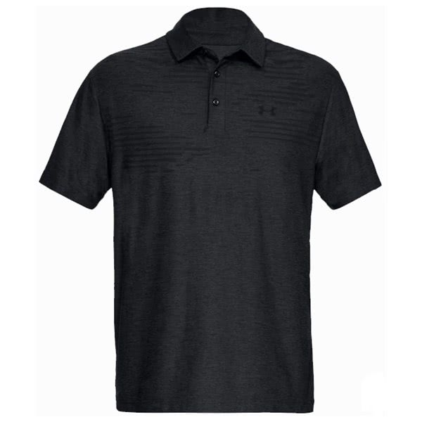 Under Armour Mens Playoff Heather Part Stripe Polo Shirt
