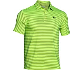 Under Armour Mens Playoff Heather Stripe Polo Shirt 2015