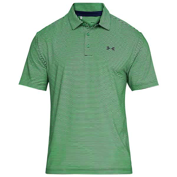 Under Armour Mens Playoff Classic Stripe Polo Shirt