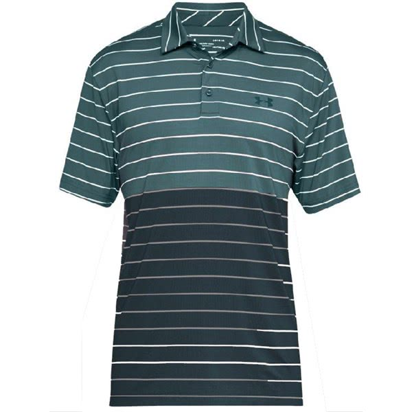 Under Armour Mens Playoff Wide Stripe Polo Shirt