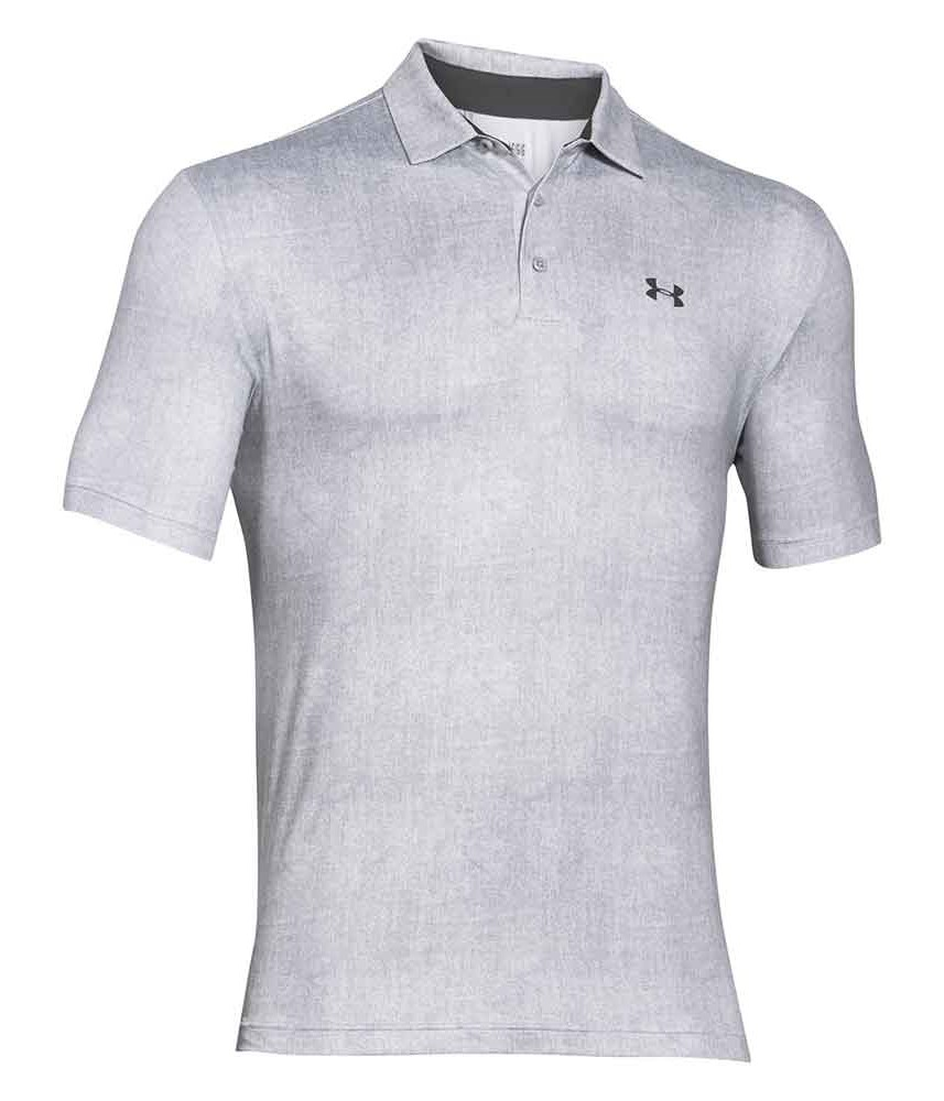 Under armour mens playoff heather stripe polo shirt for Under armor polo shirt