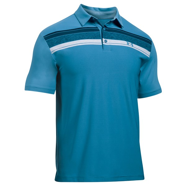 Under Armour Mens Playoff Stripe Polo Shirt
