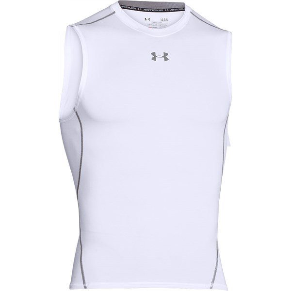 Under Armour Mens HeatGear Armour Sleveless Compression Shirt