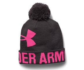 Under Armour Ladies Graphic Pom Pom Beanie