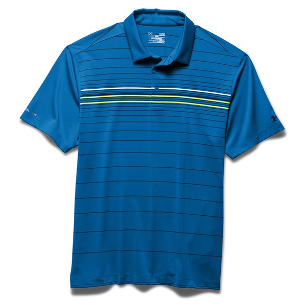 Under Armour Mens ColdBlack Engineered Stripe Polo Shirt