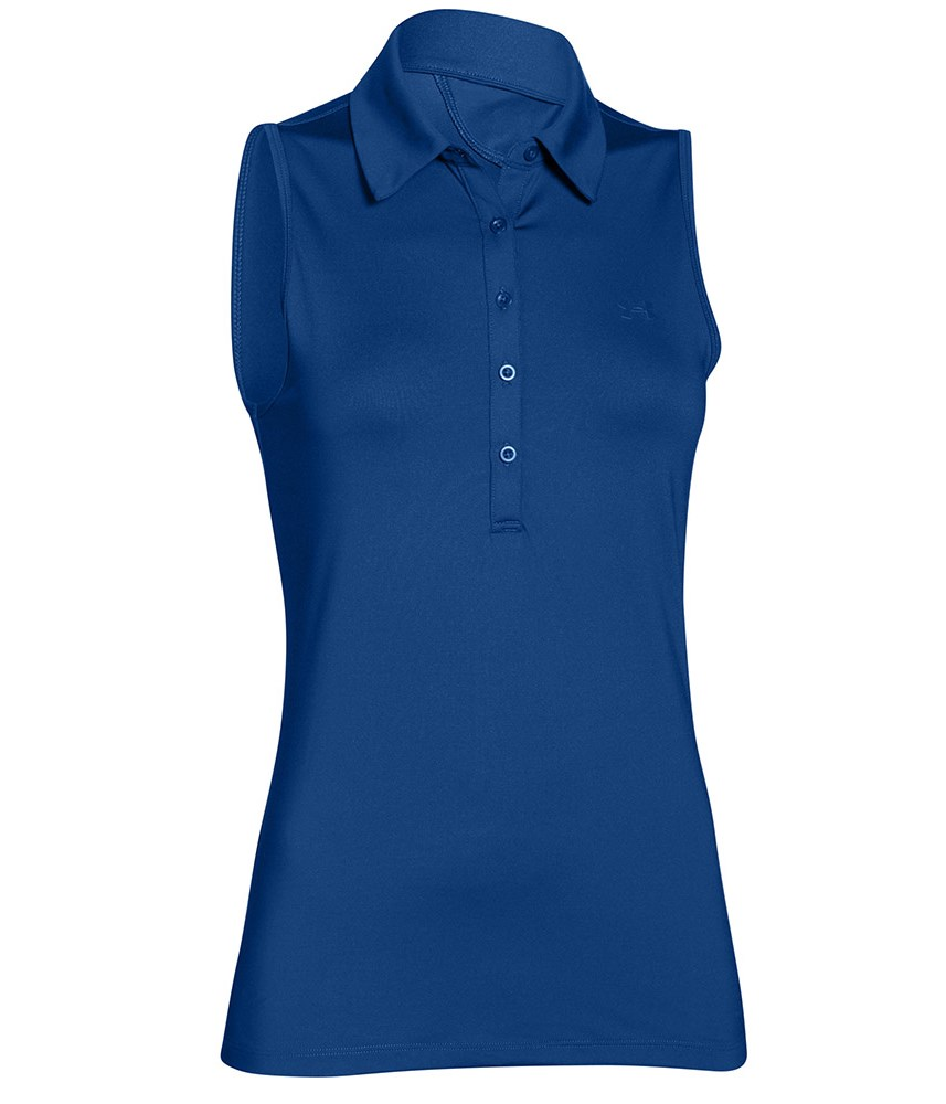 Under armour ladies zinger sleeveless polo shirt golfonline for Ladies sleeveless golf polo shirts