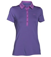 Under Armour Ladies Zinger Short Sleeve Stripe Polo Shirt