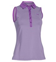 Under Armour Ladies Zinger Sleeveless Stripe Polo Shirt
