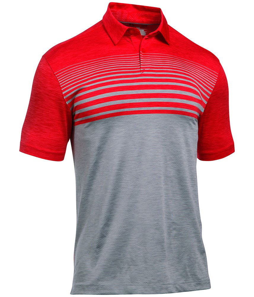 Under armour mens coolswitch upright stripe polo shirt for Under armor polo shirts