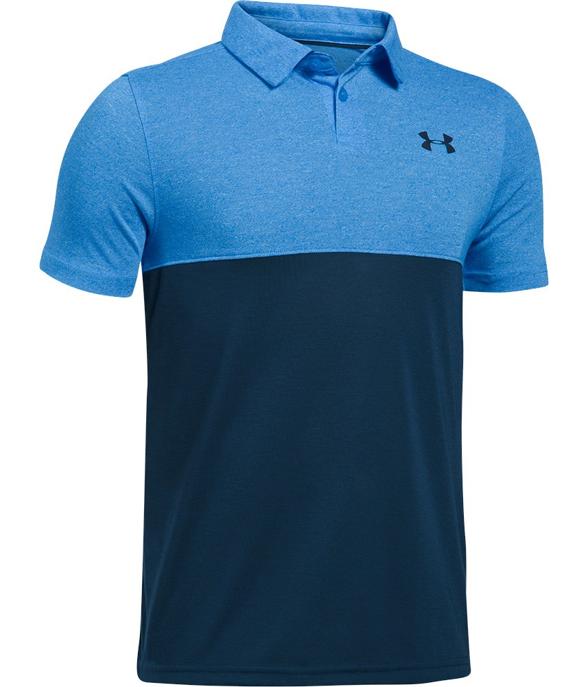 under armour boys threadborne blocked polo shirt golfonline